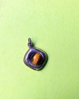 Antique-Ezust-Tigris szem Medal