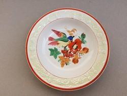 Antik Altrohlau eozin domború mintás madaras dísztányér fali tányér