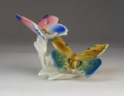 0O165 Antik ENS porcelán pillangó pár