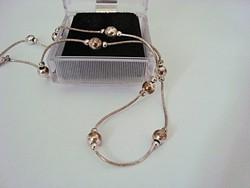 Golyós ezüst nyaklánc