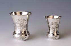 Ezüst antik bécsi poharak