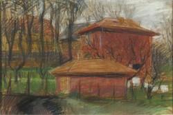 Magyar művész XX. sz. első fele : Száradó ruhák