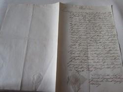 MAGYARÓVÁR MOSONMAGYARÓVÁR 1809 OKIRAT OKMÁNY OKLEVÉL DOKUMENTUM KÉZIRAT PECSÉT
