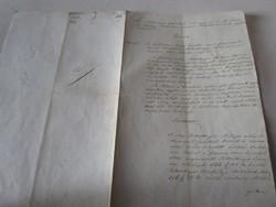 MAGYARÓVÁR MOSONMAGYARÓVÁR 1848 OKIRAT OKMÁNY OKLEVÉL DOKUMENTUM KÉZIRAT PECSÉT