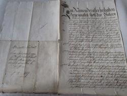 MAGYARÓVÁR MOSONMAGYARÓVÁR 1849 OKIRAT OKMÁNY OKLEVÉL DOKUMENTUM KÉZIRAT PECSÉT