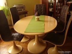 Design asztal székekkel - Ritka, különleges darab