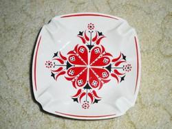 Hollóházi porcelán hamutál hamutartó