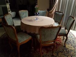 Warrings étkezőasztal 7 db  székkel 110x74cm 160ra nagyobbitható