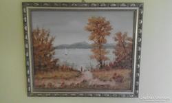 Feith Károly : Füred c. festménye.