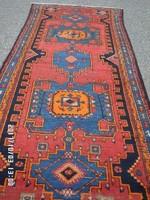 Antik Ritka Szignózott Heríz Kézi csomózású gyapjú futó szőnyeg eladó 300cmx107cm