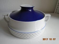 Design fedeles levesestál-VINTAGE 1970-relief rács minta-relief rozettás fogóval
