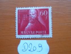 60 FILLÉR 1947 Szabadsághőseink Táncsics Mihály (1799-1884) D209