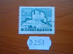2,60 FORINT 1961 VÁRAK,HOLLÓKŐ D251
