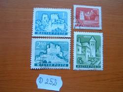 60 FILLÉR - 5 FORINT 4 DB 1960,1961 VÁRAK,D252