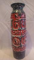 Zsűrizett retro iparművész kerámia váza 41,5 cm