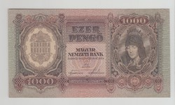 1000 PENGŐ  1943 febr. 24.    UNC !!! RITKA !!!