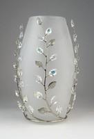 0O276 Olasz művészi design üveg váza 19.5 cm