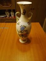 Herendi Viktória mintás porcelán amfóra váza VBO