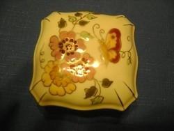 Zsolnay, pillangós bonbonier