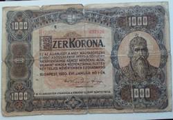 1920-as 1000 Korona F