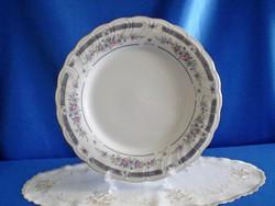 Jelzett porcelán süteményes vagy kínáló tál / rózsa mintás széllel 27 cm
