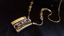 Arany betéttel izraeli ezüst akvamarinnal