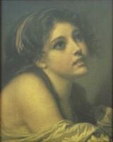 0O443 Orosz festmény után női portré olajnyomat