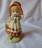 1165- Bájos kerámia kalapos kislány