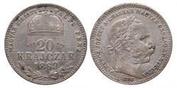 Ferenc József 20 Krajcár 1869 GYF.