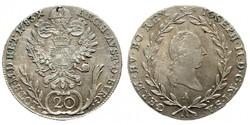 II. József ezüst 20 krajcár 1783 A.