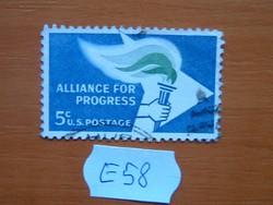 USA 5 C 1963 Alliance for Progress E58