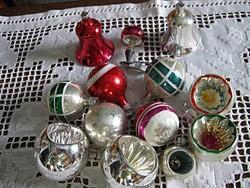 13 db régi  üveg karácsonyfadísz karácsonyfa dísz