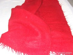 Nagy piros takaró ,cserge,ágytakaró