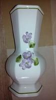 Ibolyás porcelán váza olasz
