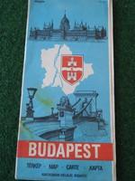Budapest térkép 1985 Kartográfiai Vállalat