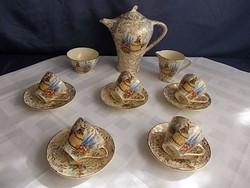 Empire kávés készlet 5sz antik,ritkaság