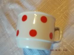 Zsolnay piros pettyes csésze