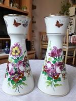Virágos, pillangós váza pár