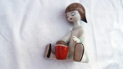 Art deco Hollóházi kislány