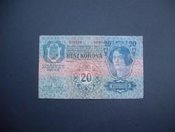 20 korona 1913 I. kiadás Felülbélyegzés nélkül
