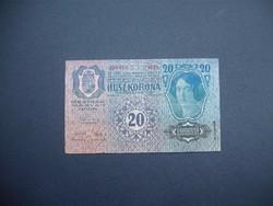 20 korona 1913 II. kiadás Felülbélyegzés nélkül
