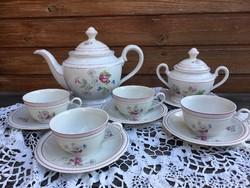 Zsolnay Iris 4 személyes teáskészlet