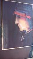 Pető János festmény, zsűrizett eladó, nagyon jó állapotban keret mérete 51 X 66 cm