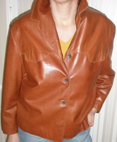 Eredeti Gaultier bőr blézer Párisból 25 éves nagyon olcsón eladó !