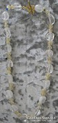 Hegyikristály, citrin 18 kgs-s aranyozással 42 cm hosszú