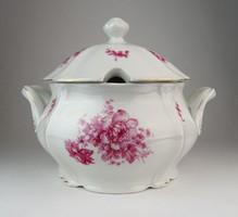 0O543 Régi meisseni porcelán leveses tál