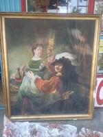 Óriás festmény szép kerettel 160x130