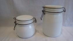 Antik tejüveg konyhai tárolók üveg doboz