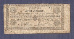 10 Kreuzer 1849 Ritka