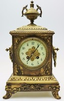 Antik Francia 8 napos bronz Óra ! Eredeti